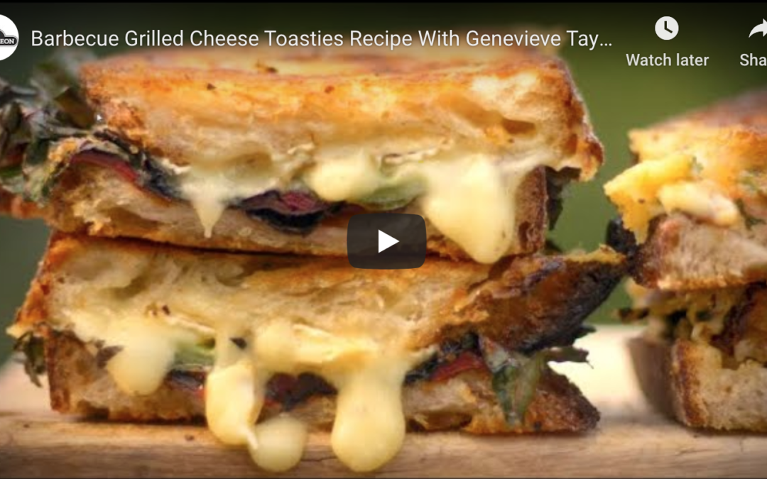 BBQ Grilled Cheese Toasties Recipe – Delish!!