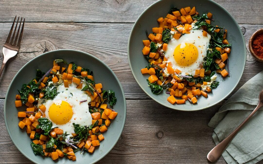 Breakfast Butternut Squash and Kale Hash
