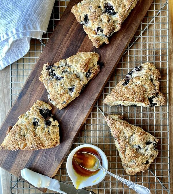 Blueberry Ginger Chia Seed Scones Recipe